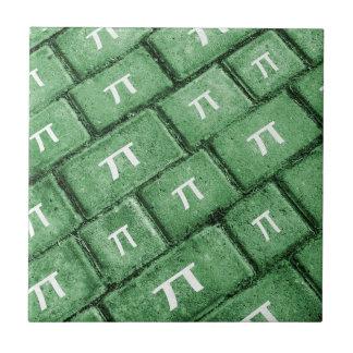 Pi Grunge Style Pattern Ceramic Tile