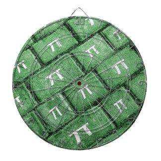 Pi Grunge Style Pattern Dartboard