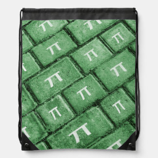 Pi Grunge Style Pattern Drawstring Bag
