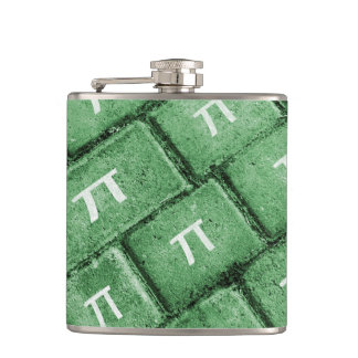 Pi Grunge Style Pattern Hip Flask