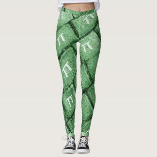 Pi Grunge Style Pattern Leggings