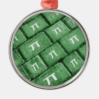 Pi Grunge Style Pattern Metal Ornament