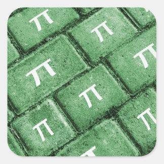 Pi Grunge Style Pattern Square Sticker