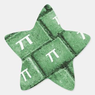 Pi Grunge Style Pattern Star Sticker
