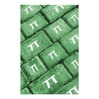 Pi Grunge Style Pattern Stationery