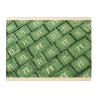 Pi Grunge Style Pattern Wood Print