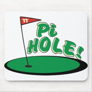 PI Hole - MATH HUMOR - GOLF Mouse Pad