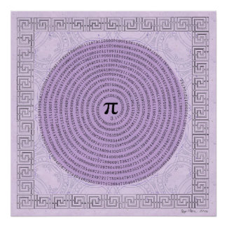 Pi in a Spiral ~ Math as Art Poster