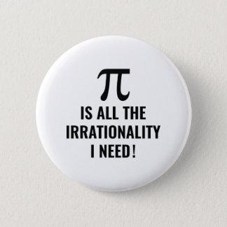 Pi Irrationality 6 Cm Round Badge