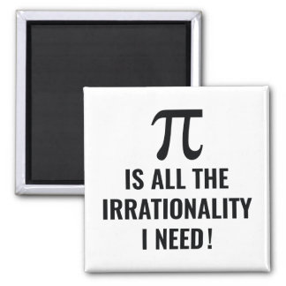Pi Irrationality Square Magnet