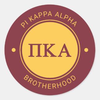 Pi Kappa Alpha | Badge Classic Round Sticker