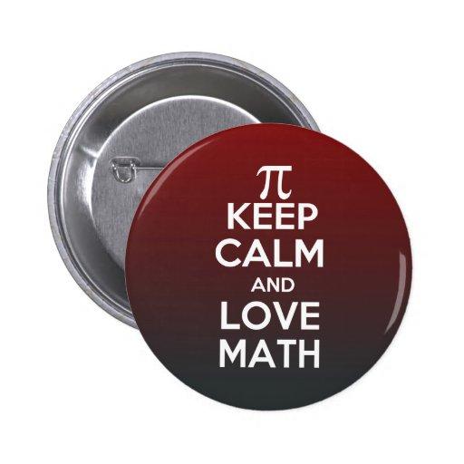 Pi keep calm and love math pin