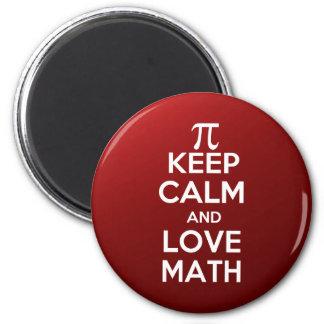 Pi keep calm and love math magnet