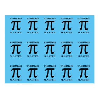 Pi Master, Pi Symbol and Value Postcard