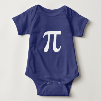 Pi Math Symbol Greek Baby Bodysuit