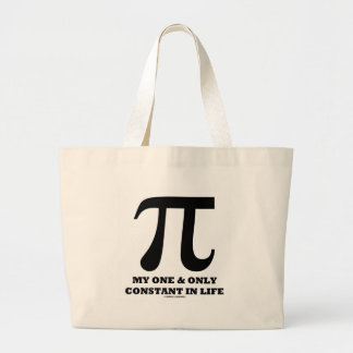 Pi My One And Only Constant In Life (Math Humor) Canvas Bag