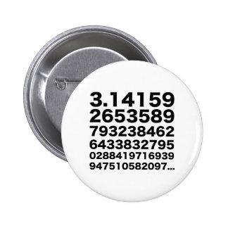 Pi number 6 cm round badge