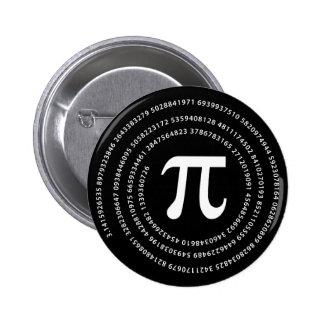 Pi Number Design 6 Cm Round Badge