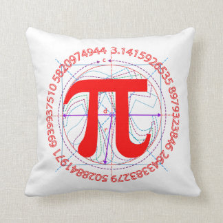 Pi Number Drawing Cushion