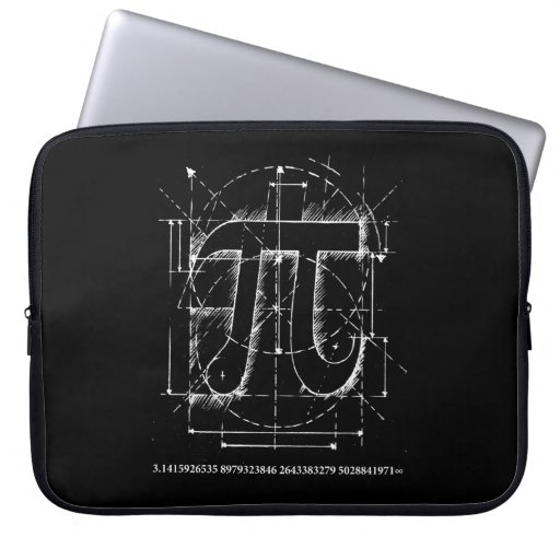 Pi Number Drawing Computer Sleeves