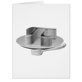 Pi on a Silver Platter Card