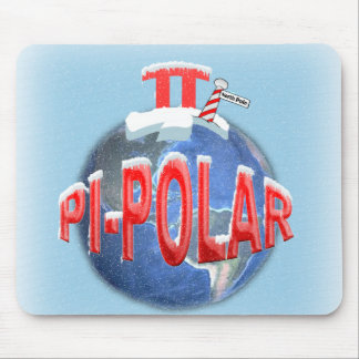 PI POLAR (NORTH POLE) MATH JOKE MOUSEPAD