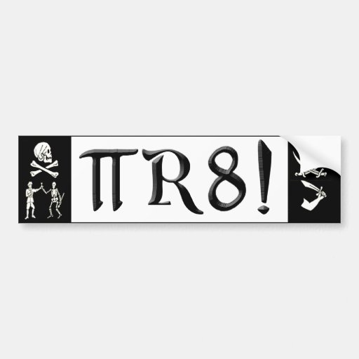 PI R8 - PIRATE SPELLED THE GEEK WAY BUMPER STICKERS