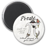 Pi•rate Pi Day Shirts and Gifts 6 Cm Round Magnet