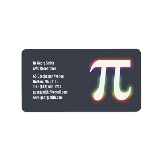 Pi - Scientist Label Address Label