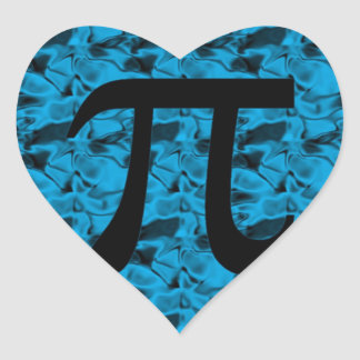 Pi Sign Heart Sticker