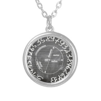 pi silver plated necklace