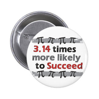 Pi Success 6 Cm Round Badge