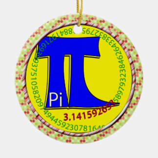 Pi Symbol 3.14 Ultimate Ceramic Ornament