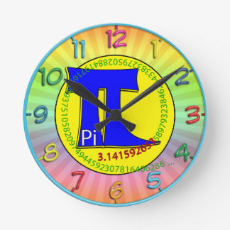 Pi Symbol 3.14 Ultimate Round Clock