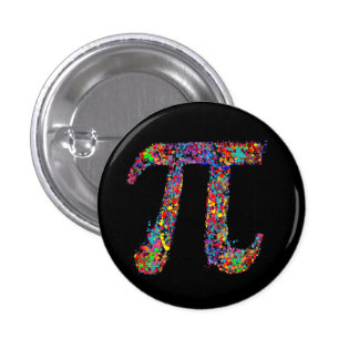 Pi Symbol Action Painting Splatter 3 Cm Round Badge