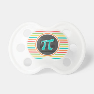 Pi Symbol Bright Rainbow Stripes Baby Pacifiers