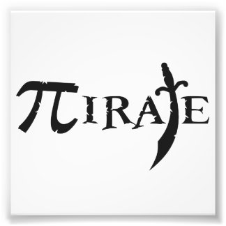 Pi Symbol Pirate Photo Print