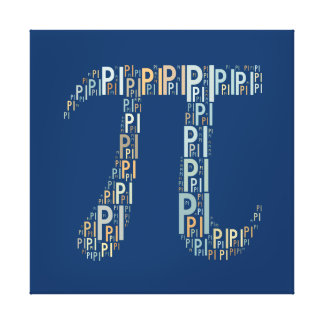 Pi Typed Design Text Symbol | Math Canvas Canvas Print