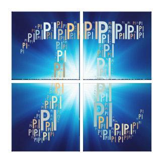 Pi Typed Design Text Symbol | Math Canvas Canvas Prints