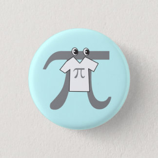 Pi wearing Pi 3 Cm Round Badge