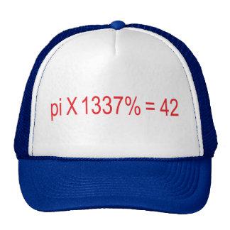 pi X 1337% = 42 Trucker Hat