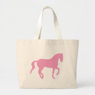 Piaffe Horse (pink) Jumbo Tote Bag