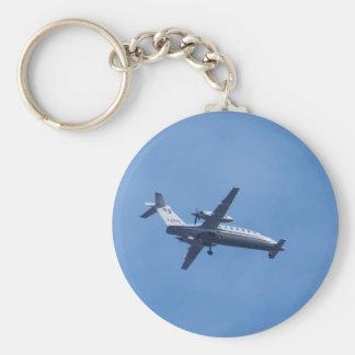 Piaggio P180 Aircraft Basic Round Button Key Ring