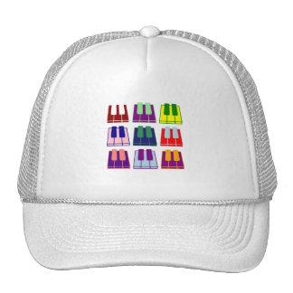Pianist Keyboard Piano Keys Pop Art Hat