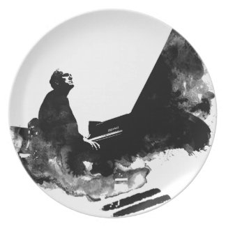 pianist party plates