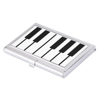 Pianist Piano Keys Card Holder Business Card Cases