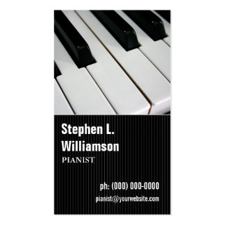 Pianist Pinstripe Business Card