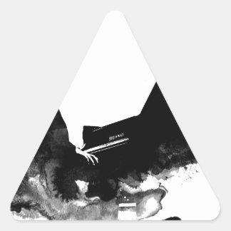 pianist triangle sticker