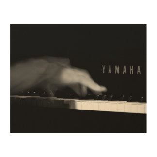 Pianist's Hand on Yamaha Piano Wood Wall Art