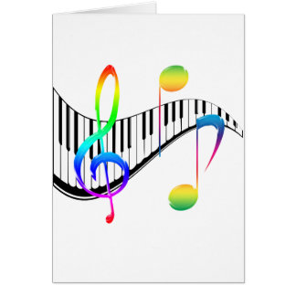 Piano 02 greeting card